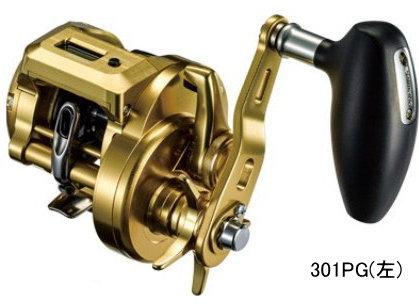 シマノ オシアコンクエストCT 301PG(左)