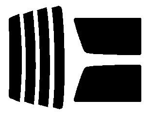 ●原料着色 リヤガラス、リヤサイドガラス各色選択 ミラ 3ドア L200・L210 リヤ窓左右が開閉しないタイプ リヤセット カット済みカーフィルム アイケーシー株式会社製のルミクールSDフィルムを使用