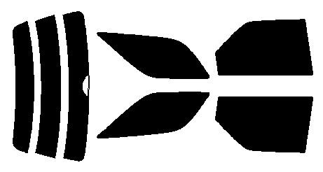 原料着色ハードコート リヤセット マーク2クオリス MCV20W・MCV21W・SXV20W・SXV25W・MCV25W カット済みカーフィルム アイケーシー株式会社製のルミクールSDフィルムを使用