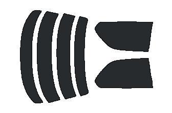 原料着色ハードコートフィルム リヤセット セルシオ UCF20・UCF21 カット済みカーフィルム アイケーシー株式会社製のルミクールSDフィルムを使用