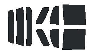 ●原料着色ハードコート リヤガラス、リヤサイドガラス各色選択 ラウム EXZ10・EXZ15 リヤセット カット済みカーフィルム アイケーシー株式会社製のルミクールSDフィルムを使用