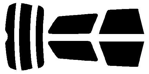 原料着色ハードコート リヤセット レガシィワゴン レガシーワゴン BP5・BP9・BPE カット済みカーフィルム アイケーシー株式会社製のルミクールSDフィルムを使用