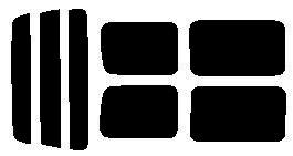 ●原料着色ハードコート リヤガラス、リヤサイドガラス各色選択 スクラム  DG52V・DG52W・DH52V・DG62V・DG62W リヤセット カット済みカーフィルム アイケーシー株式会社製のルミクールSDフィルムを使用