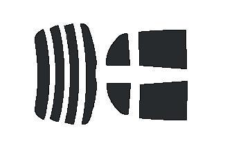 ●原料着色ハードコート リヤガラス、リヤサイドガラス各色選択 ヴィッツ SCP90・NCP91・NCP95・KSP90 リヤセット カット済みカーフィルム アイケーシー株式会社製のルミクールSDフィルムを使用