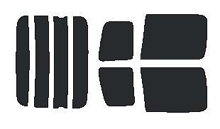 ●原料着色ハードコート リヤガラス、リヤサイドガラス各色選択 ファンカーゴ NCP20・NCP21・NCP25 リヤセット カット済みカーフィルム アイケーシー株式会社製のルミクールSDフィルムを使用