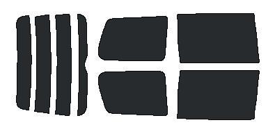 原料着色ハードコートフィルム リヤセット ノア AZR60G・AZR65G カット済みカーフィルム アイケーシー株式会社製のルミクールSDフィルムを使用