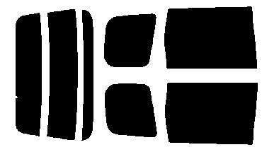 原料着色ハードコートフィルム リヤセット エクストレイル T30・PNT30・NT30 カット済みカーフィルム アイケーシー株式会社製のルミクールSDフィルムを使用