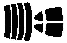 原料着色ハードコートフィルム リヤセット サニー セダン QB15・JB15・FNB15・FB15・SB15・B15 カット済みカーフィルム アイケーシー株式会社製のルミクールSDフィルムを使用
