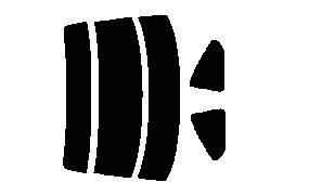 原料着色ハードコートフィルム リヤセット シルビア S15 カット済みカーフィルム アイケーシー株式会社製のルミクールSDフィルムを使用