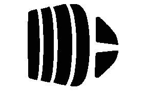 原料着色ハードコートフィルム リヤセット スカイライン 2ドア ER34・BNR34・ENR34・HR34 カット済みカーフィルム アイケーシー株式会社製のルミクールSDフィルムを使用