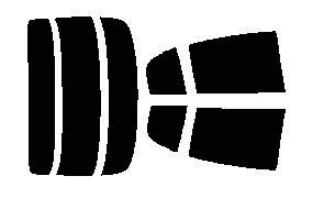 原料着色ハードコートフィルム リヤセット スカイライン 4ドア CPV35 カット済みカーフィルム アイケーシー株式会社製のルミクールSDフィルムを使用