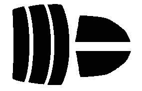 原料着色ハードコートフィルム リヤセット セドリック Y34・MY34・HY34・ENY34 ハードトップ リヤセット カット済みカーフィルム アイケーシー株式会社製のルミクールSDフィルムを使用