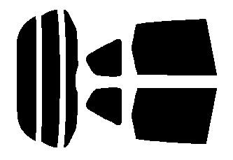 原料着色ハードコート リヤセット フィット GE6・GE7・GE8・GE9 カット済みカーフィルム アイケーシー株式会社製のルミクールSDフィルムを使用