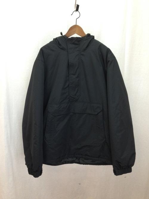 SUPREME シュプリーム 17AW Hooded Logo Half Zip Pullover ハーフジップ ナイロンジャケット フードロゴ XL ブラック/アウター【中古】[☆3]