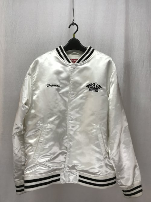 Supreme × Rap-A-Lot Records シュプリーム Rap-A-Lot Records Satin Club Jacket 17SS コラボ 白 WHITE L/アウター【中古】[☆3]