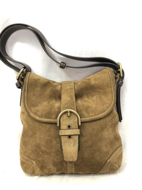 COACH コーチ ショルダーバッグ 鞄 レザー ブラウン 茶 ケアセット付き G35-9482/バッグ【中古】[☆3]