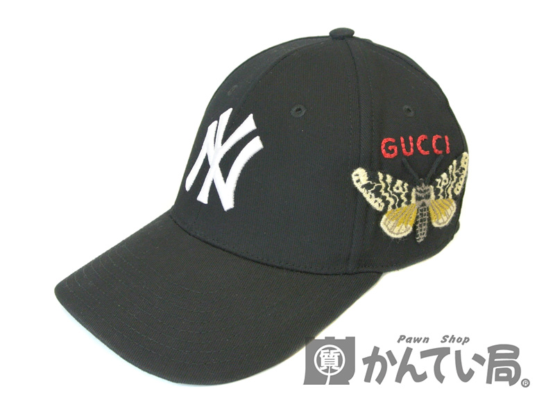 new products f9630 378e3 GUCCI×NEW YORK YANKEES18AW バタフライ刺繍 ベースボール ...