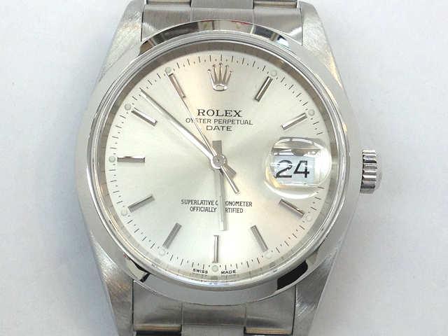 メンズ時計【中古】 ROLEX ロレックス オイスターパーペチュアルデイト 15200 Z番(2006年頃) オーバーホール済み 仕上げ済み【楽ギフ_包装選択】