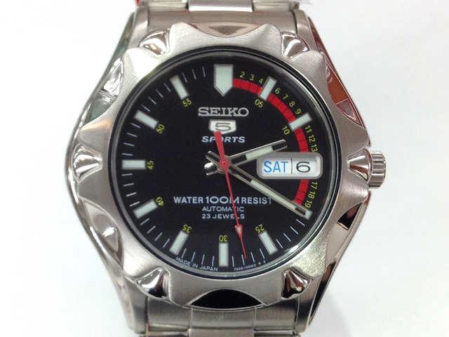 メンズ時計【中古】 SEIKO セイコー セイコー5スポーツ SNZ449J1 自動巻き 黒文字盤 腕時計【楽ギフ_包装選択】