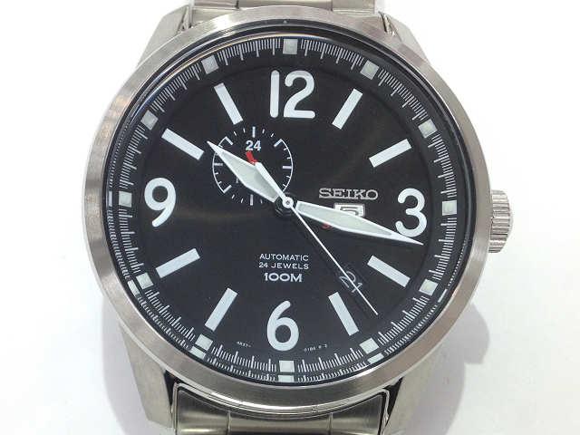 メンズ時計【中古】 SEIKO セイコー セイコー5スポーツ SSA293K1 自動巻き 黒文字盤 腕時計【楽ギフ_包装選択】
