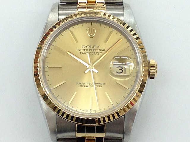 メンズ時計【中古】 ROLEX ロレックス デイトジャスト 16233(S番)1993年頃【楽ギフ_包装選択】
