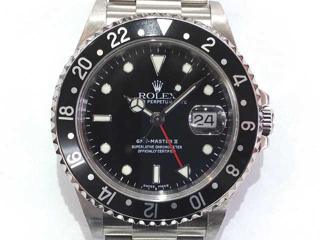 メンズ時計【中古】 ROLEX ロレックス  GMTマスター2 16710(Y番)2002年頃 オーバーホール済み【楽ギフ_包装選択】