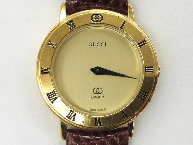 レディース時計【中古】 GUCCI グッチ 3001L クオーツ時計 ベルト社外品【楽ギフ_包装選択】