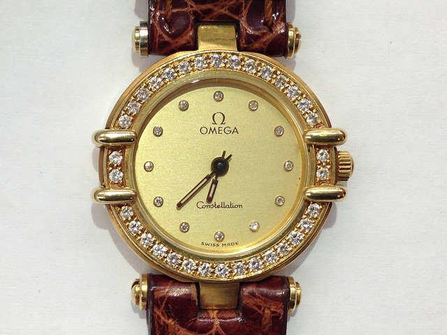 レディース時計【中古】 OMEGA オメガ コンステレーション K18 ダイヤ【楽ギフ_包装選択】