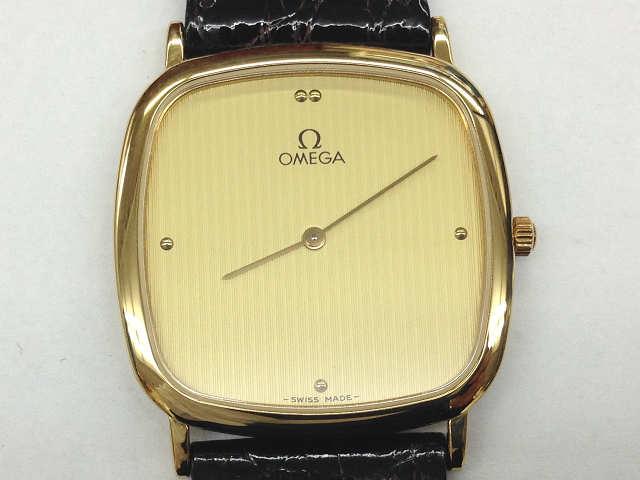 メンズ時計【中古】 OMEGA オメガ デビル スクエア型 クオーツ時計【楽ギフ_包装選択】