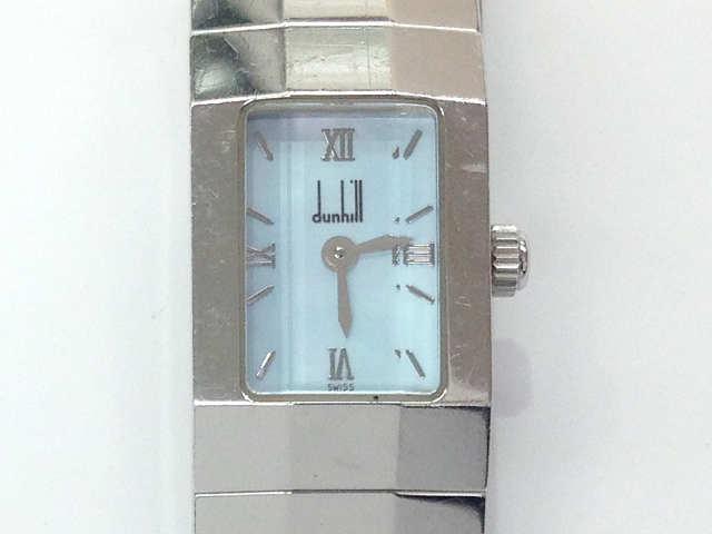 レディース時計【中古】 DUNHILL ダンヒル ダンヒリオン WR30M 腕時計 クオーツ 水色文字盤【楽ギフ_包装選択】