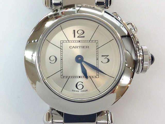 レディース時計【中古】 CARTIER カルティエ ミスパシャ W3140007 クオーツ 腕時計 オーバーホール済み【楽ギフ_包装選択】