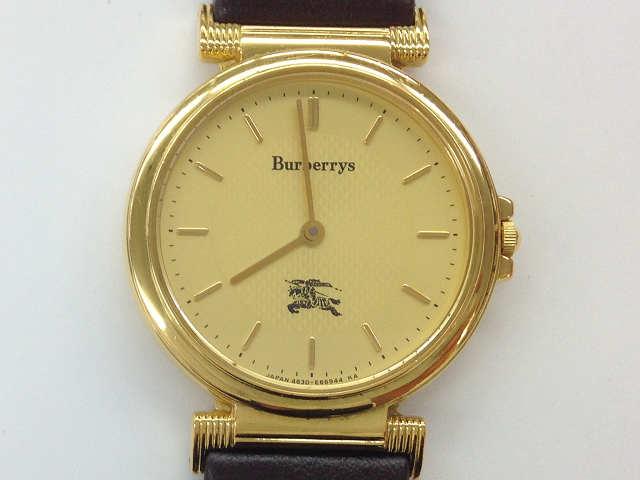 時計【中古】 BURBERRY バーバリー クオーツ時計 4620-E63867 18K ゴールド【楽ギフ_包装選択】