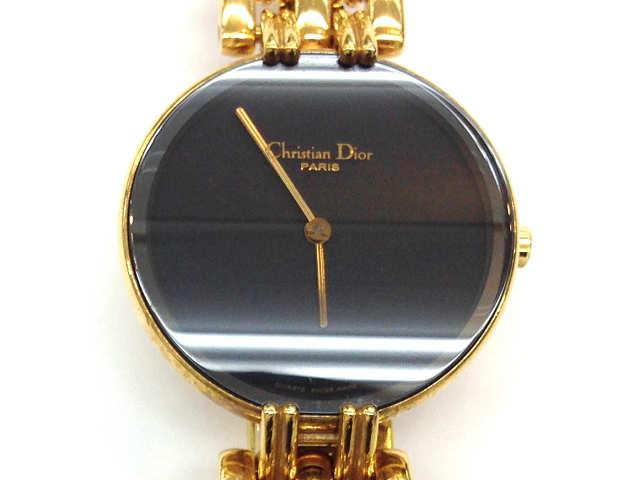 レディース時計【中古】 Christian Dior クリスチャンディオール バギラ クオーツ時計 D46-154-4 黒文字盤【楽ギフ_包装選択】