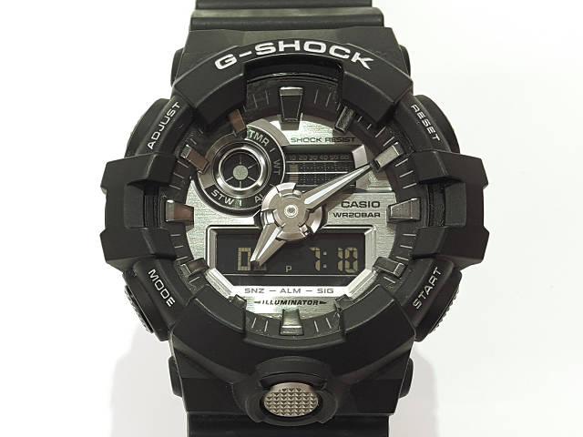 メンズ時計【中古】 CASIO カシオ Gショック  GA-710 クオーツ G-SHOCK ブラック 黒【楽ギフ_包装選択】