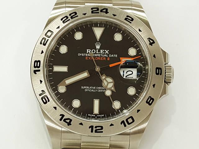 メンズ時計【中古】 ROLEX ロレックス エクスプローラー2 216570 (ランダムシリアル)2010年以降【楽ギフ_包装選択】