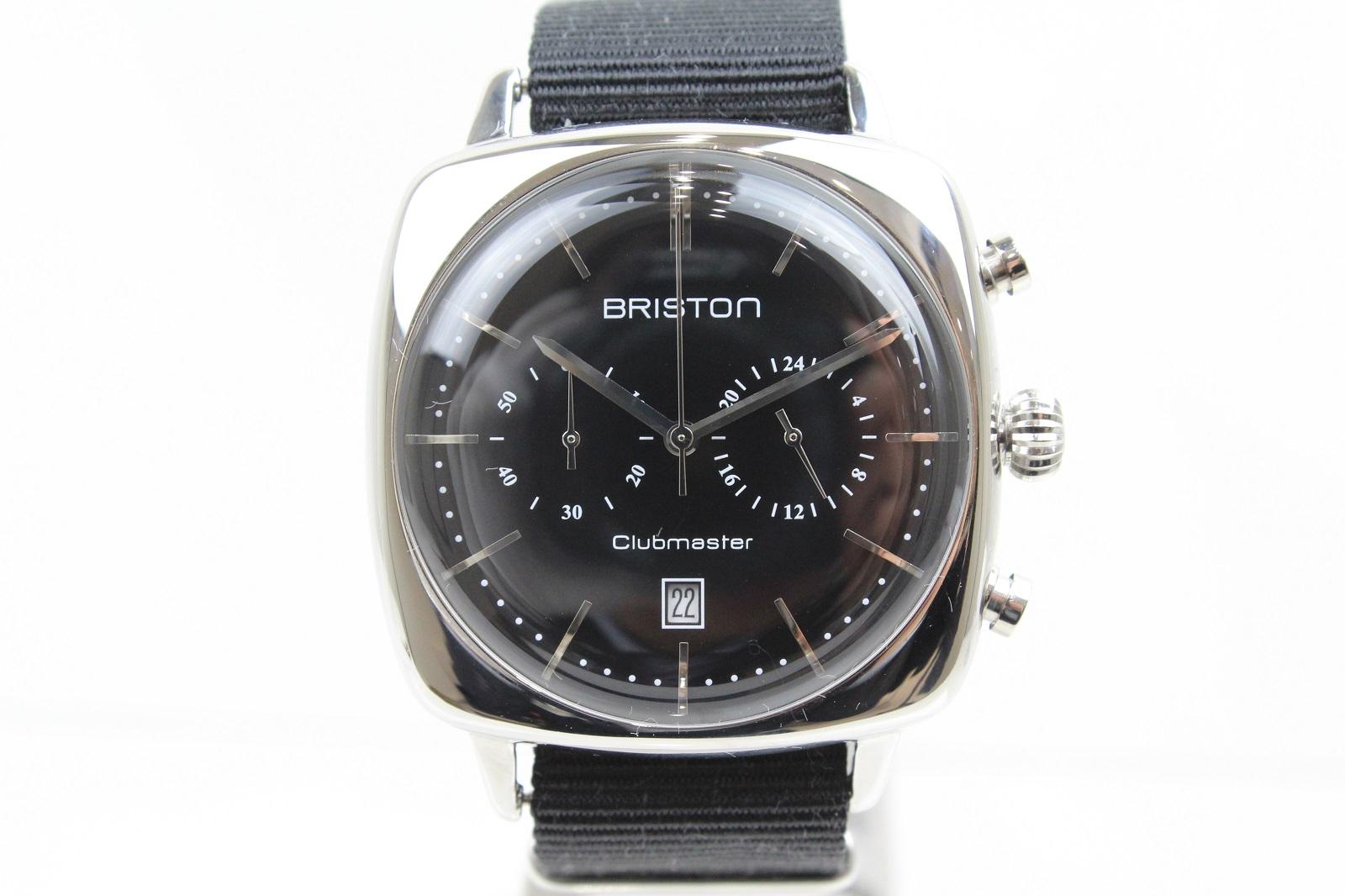 BRISTON ブリストン Clubmaster Vintage SS Chronograph (クラブマスター ヴィンテージSS クロノグラフ) ブラック 17140.PS.V.1.NB メンズ レディース ユニセックス 腕時計 【中古】