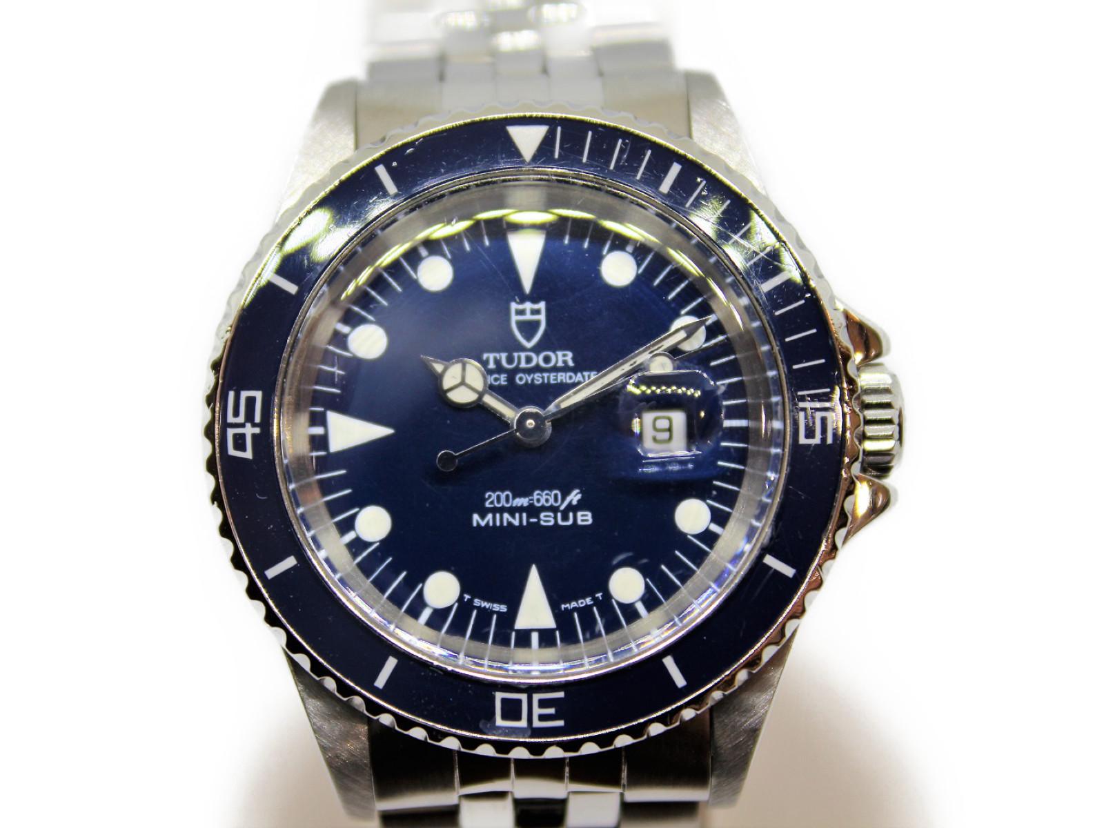 【1991年製】TUDOR チュードル プリンスオイスターデイト ミニサブ 73090 ネイビー メンズ ボーイズ 自動巻き 腕時計 【中古】