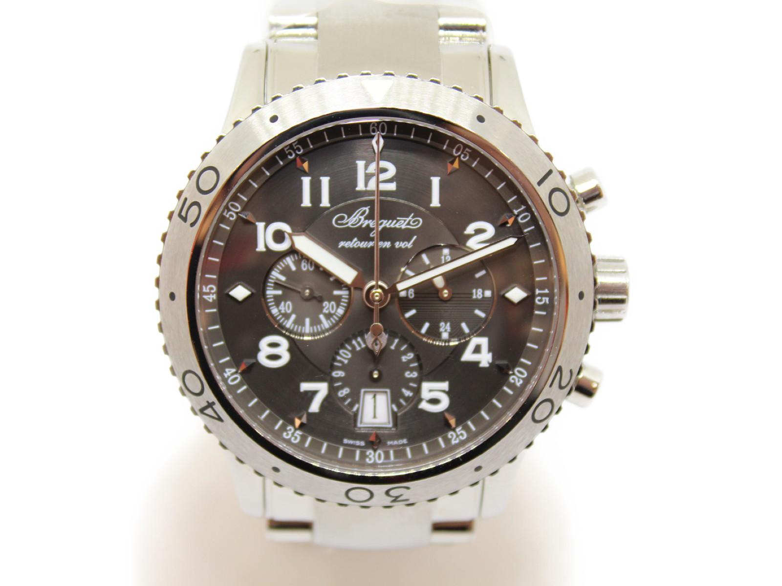 BREGUET ブレゲトランスアトランティック タイプXXI3810ST 月・日付表示クロノグラフ メンズ 腕時計【中古】