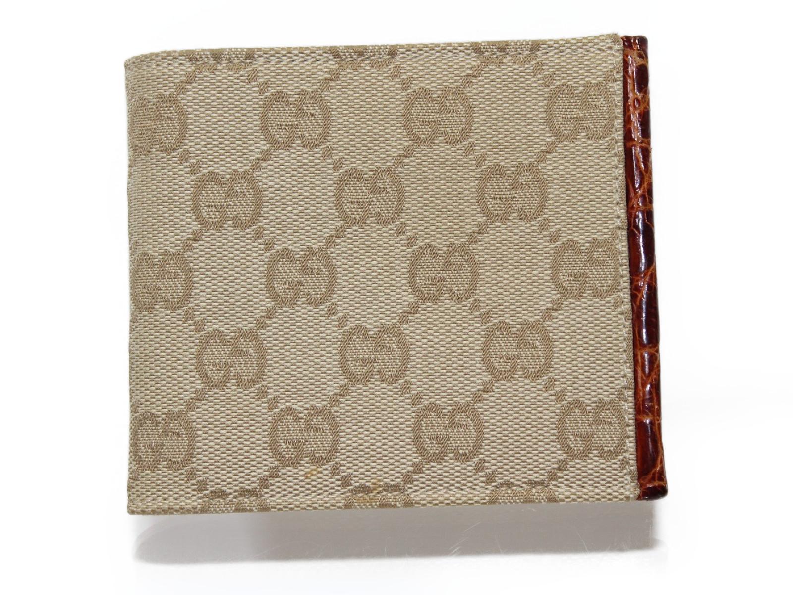 【日本製】 Gucci グッチ 124559 グッチシマ レディース 二つ折り財布 Gucci キャンバス ベージュ系 メンズ 124559 レディース ウィメンズ【中古】, 和楽器ショップ どん:f89e638c --- admin.romarizstudio.com.br