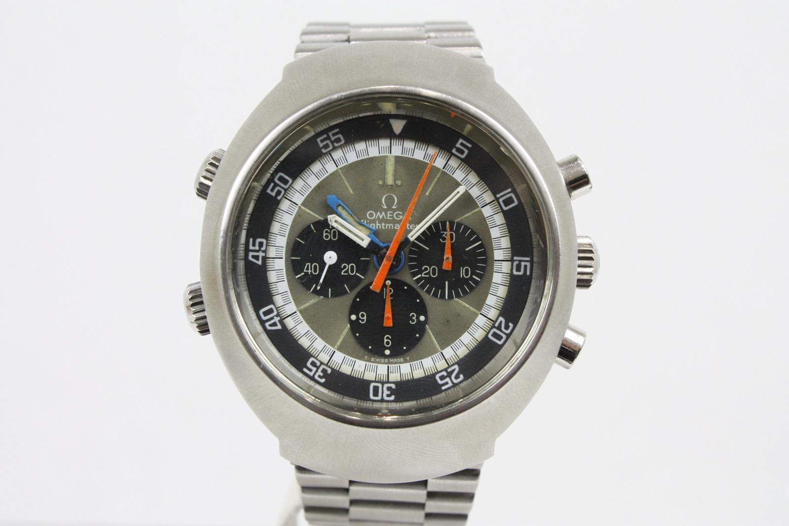 [宅送] 【超レアアンティーク】OMEGA オメガ フライトマスター 145.036 1970年代 クロノグラフ GMT インナー回転ベゼル 手巻き メンズ 腕時計 【】, e-Backs 36e5aefe