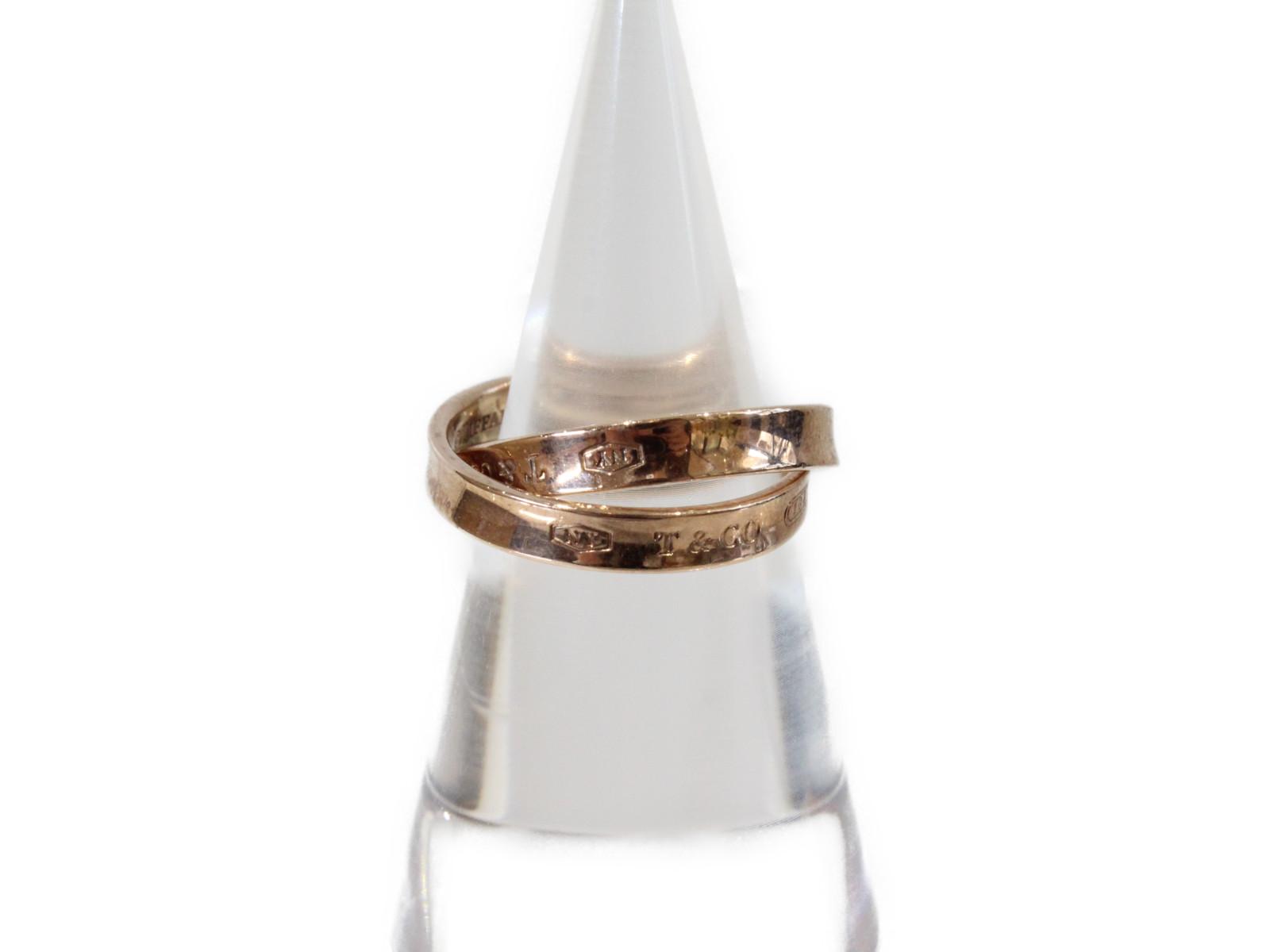 【Tiffany&㏇(ティファニー)】1837インターロッキングメタルリングピンクメタル 11号 ギフト包装可【中古】