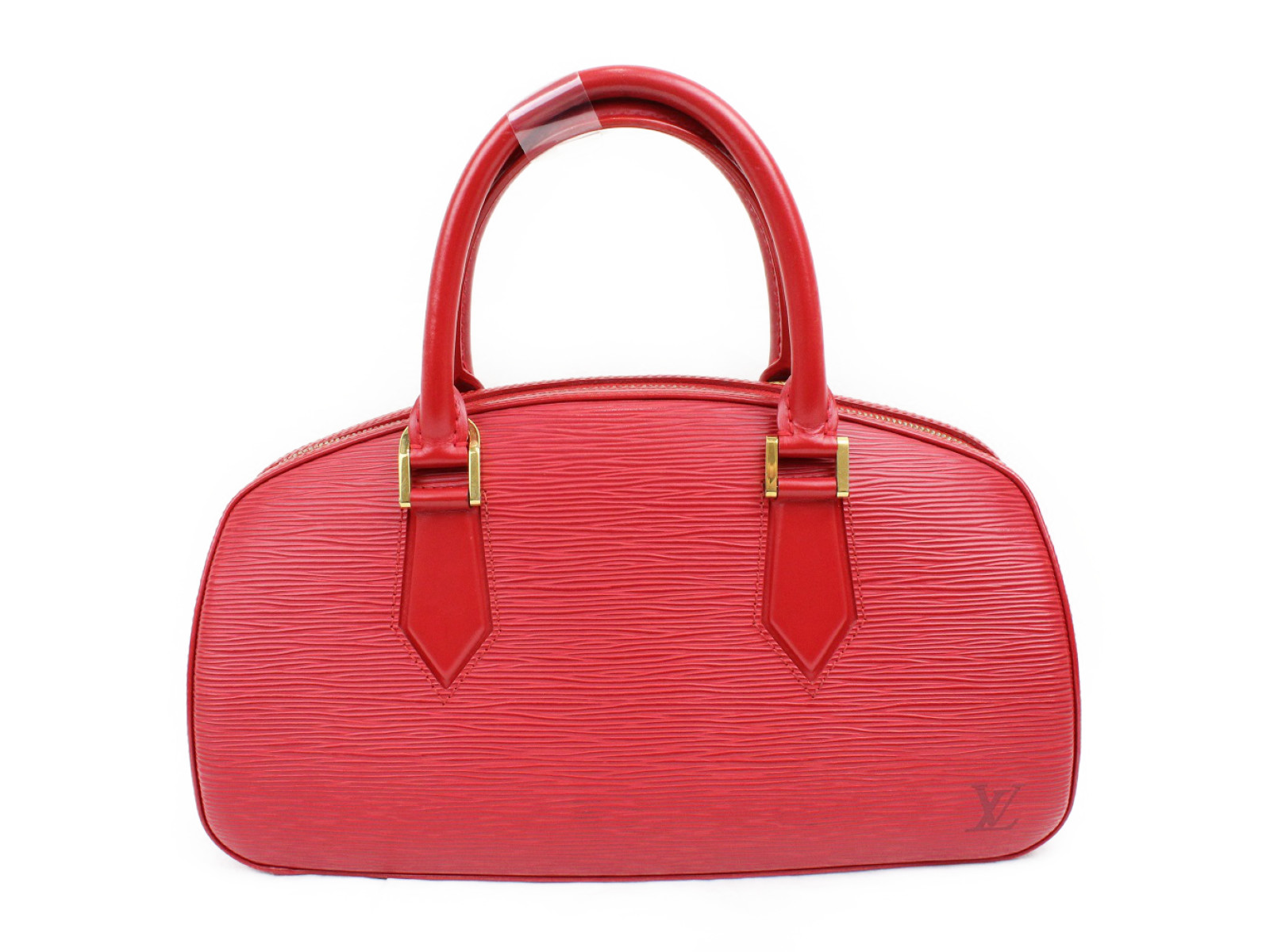 LOUIS VUITTON ルイヴィトンジャスミン M5208Eエピ 赤 ハンドバッグコンパクト シンプルフォーマル プレゼント包装可【中古】