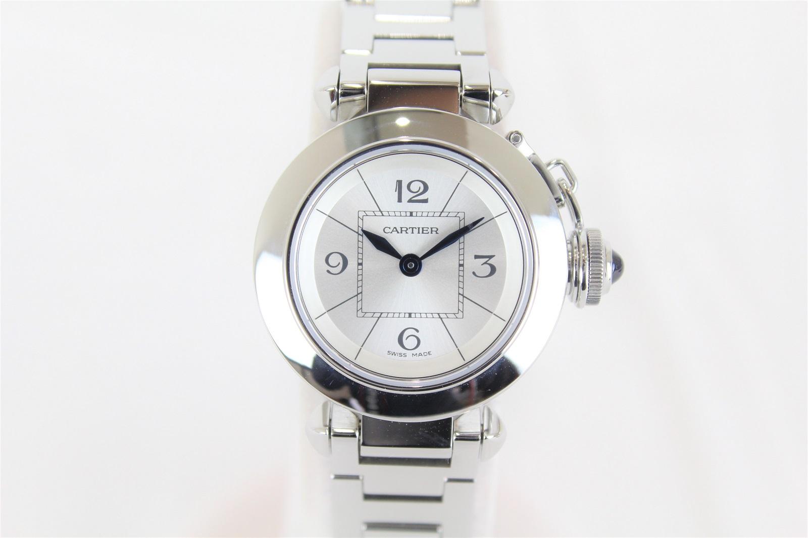 219df27b8efe8 kanteikyokumasakiR56tenn  CARTIER Cartier Miss pasha W3140007 SS stainless  steel quartz battery white Lady s watch