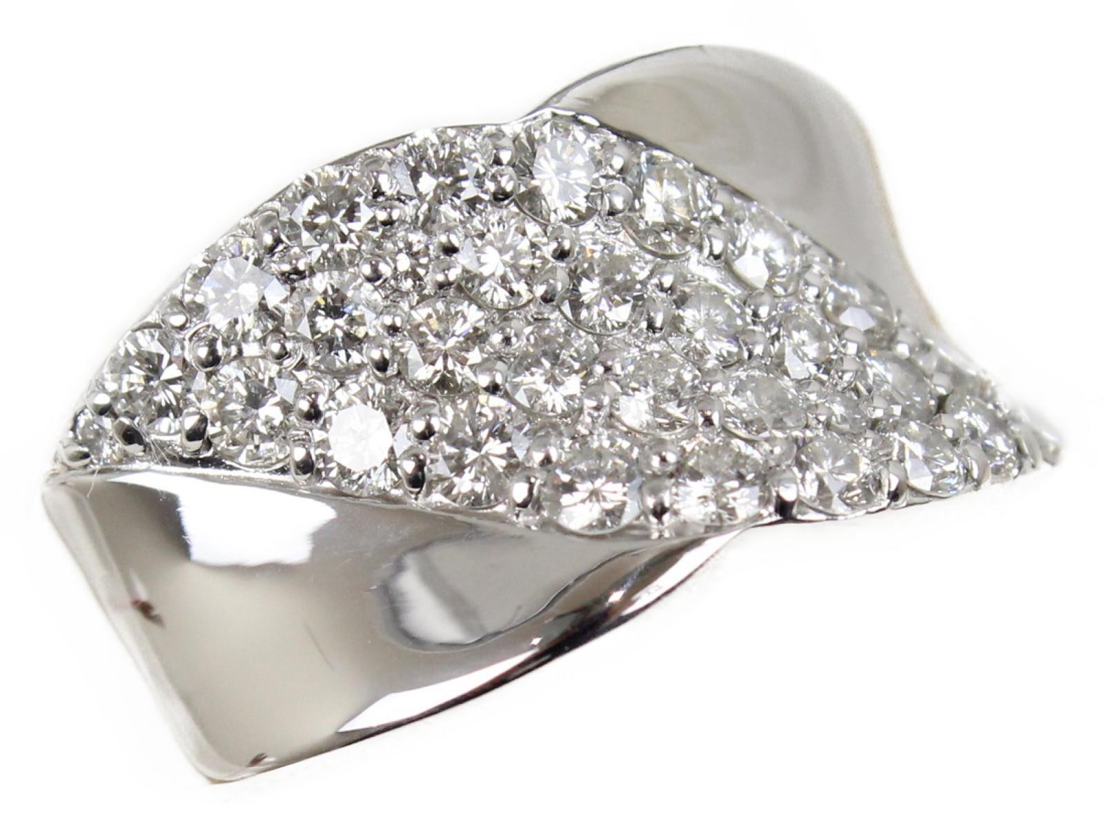 【新品仕上げ済】ダイヤモンドリングダイヤモンド1.00ct Pt90010.9g 14.5号 鑑別書上品 ギフト包装可【中古】