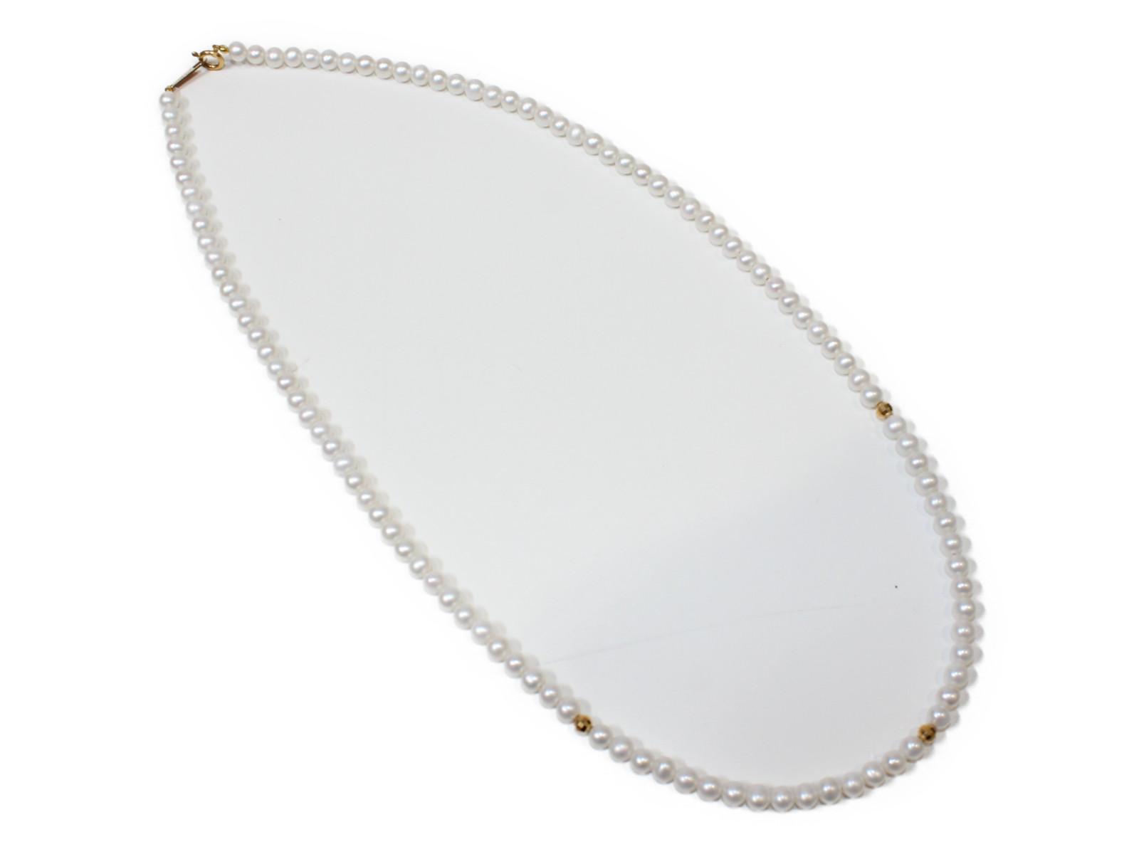ミニ真珠ネックレスK18 真珠 42cmカワイイ シンプル ギフト包装可【中古】