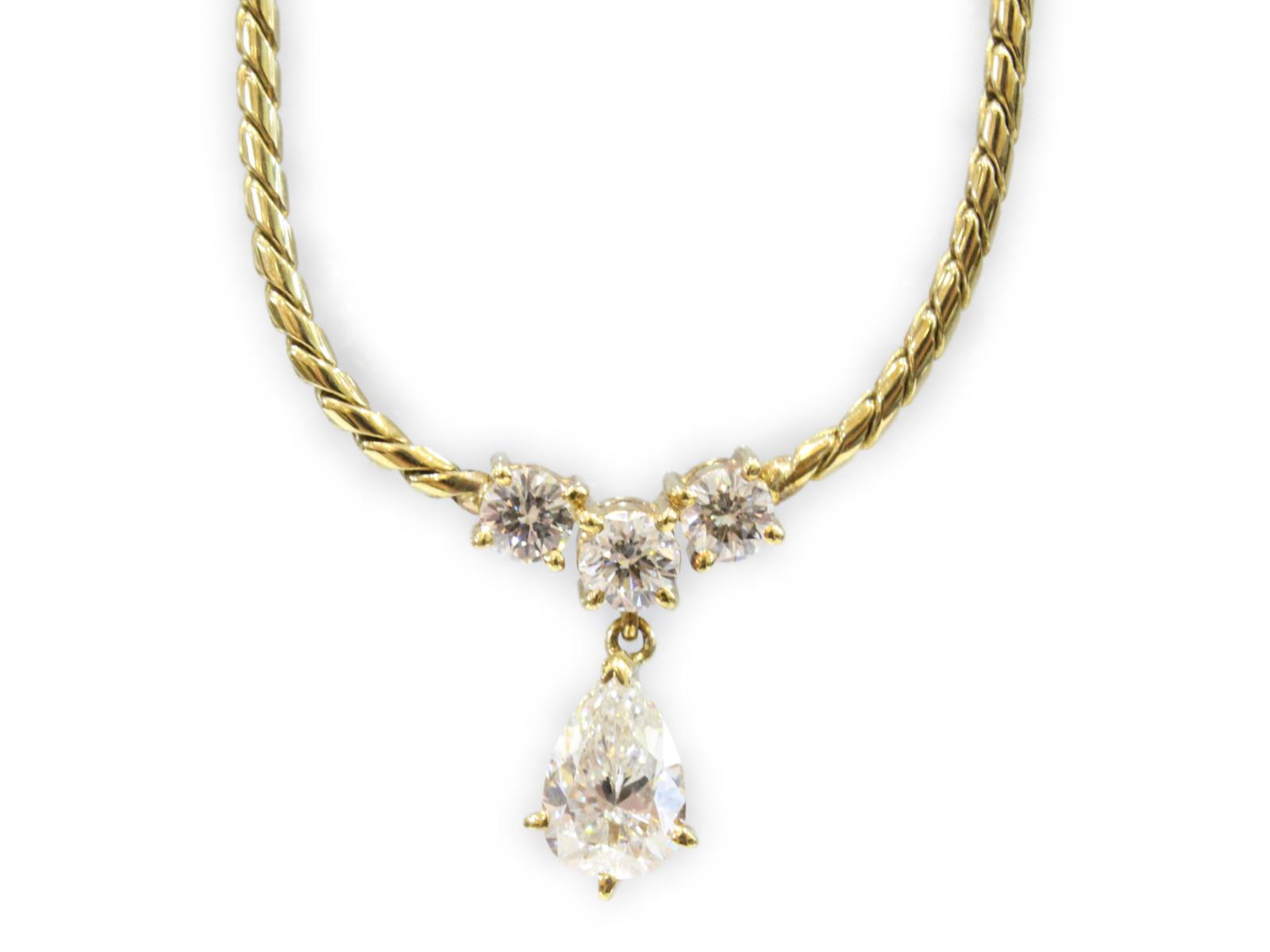K18 ネックレスダイヤモンド1 01ct 脇ダイヤ2P0 57ctF1TclKJ