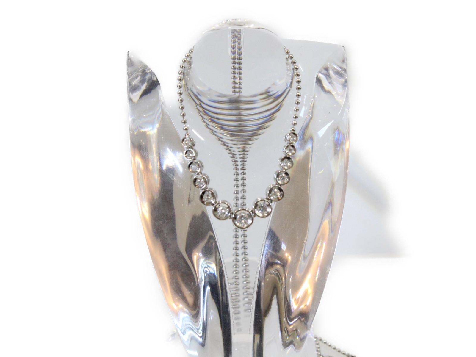 ダイヤモンドネックレスダイヤモンド0.5ct Pt8508.7g 42cm 高級 上品ギフト包装可 【中古】
