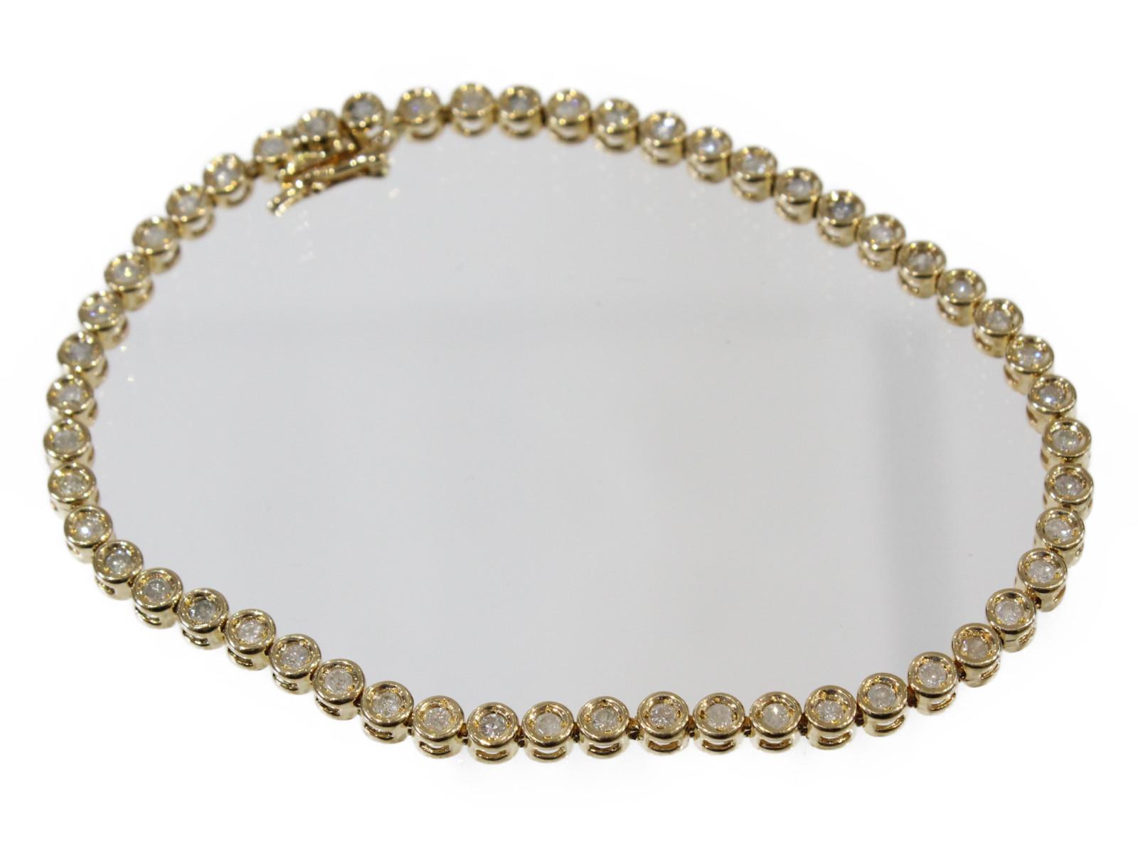 【☆新品仕上げ済☆】テニスブレスレットダイヤモンド1.23ct K1810.3g 18cm ゴージャス 人気ギフト包装可 【中古】