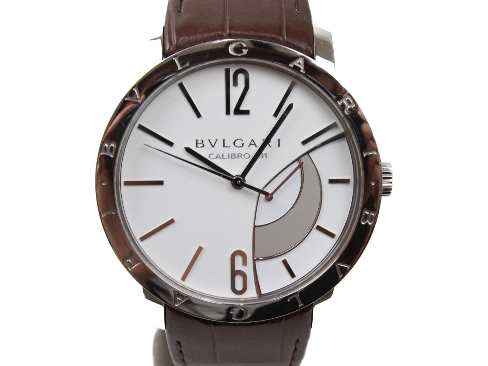 【OH済み】BVLGARI ブルガリ ブルガリブルガリ リザーブ ド マルシェ BB43SRM 手巻き パワーリザーブ シースルーバッグ SS ステンレススチール 革ベルト メンズ 腕時計【中古】