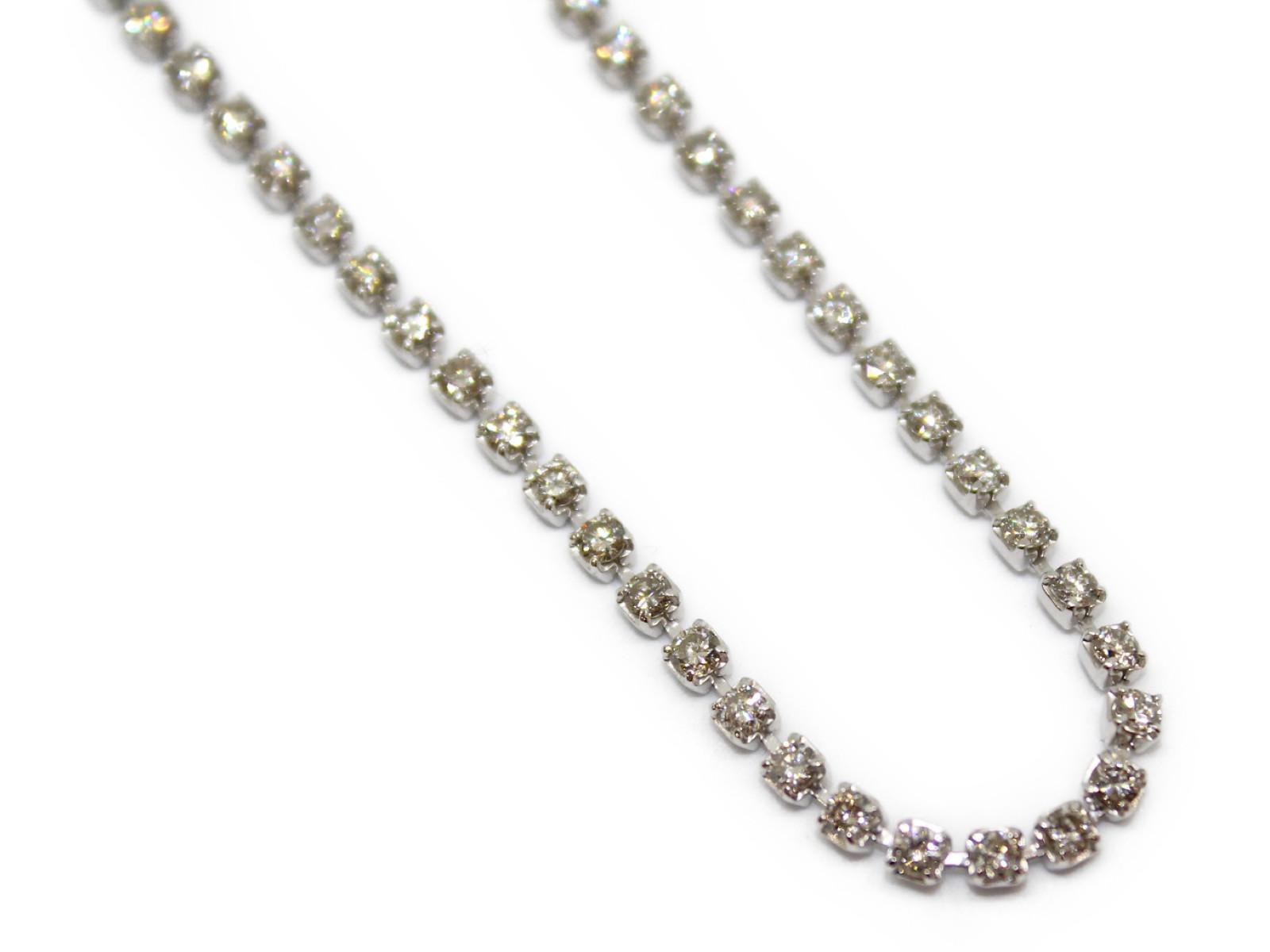 テニスネックレスダイヤモンド5ctPt850 13g 約41cmラグジュアリー 美品ギフト包装可 【中古】
